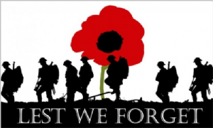 Lest We Forget Army Huge Flag - 8' x 5'.